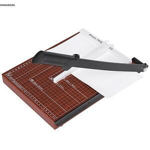 A4-12-Blaetter-Papierschneider-Schneidemaschine-Fotoschneider-Hebelschneider-neu