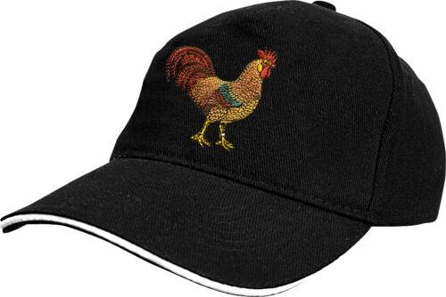 Veggies Vegans Einstickung Hahn 69699 Baseball Cap Muetze Kappe mit Tiermotiv f