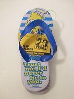 Nip Boys The Simpsons 29 Years Blue Grey Yellow Flip Flopssize S 12-13