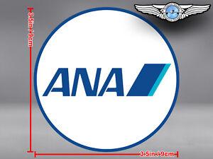ANA ALL NIPPON AIRWAYS ROUND LOGO STICKER / DECAL
