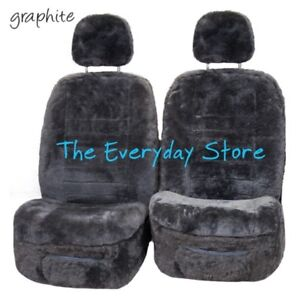 Genuine-Sheepskin-Car-Seat-Covers-For-Toyota-Hilux-15-18-Pair-22MM-TC-Arbag-Safe