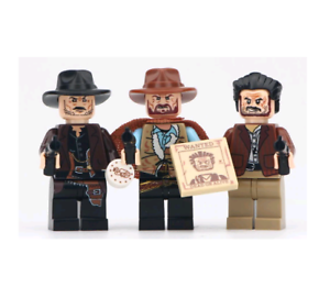 RARE MOC Custom LeGo Minifigures GIFT for Kids TOY COWBOY THE GOOD BAD UGLY