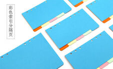 5 Sheets1 Set A5 6 Holes Candy Color Colorful Sweet Divider Separate Page