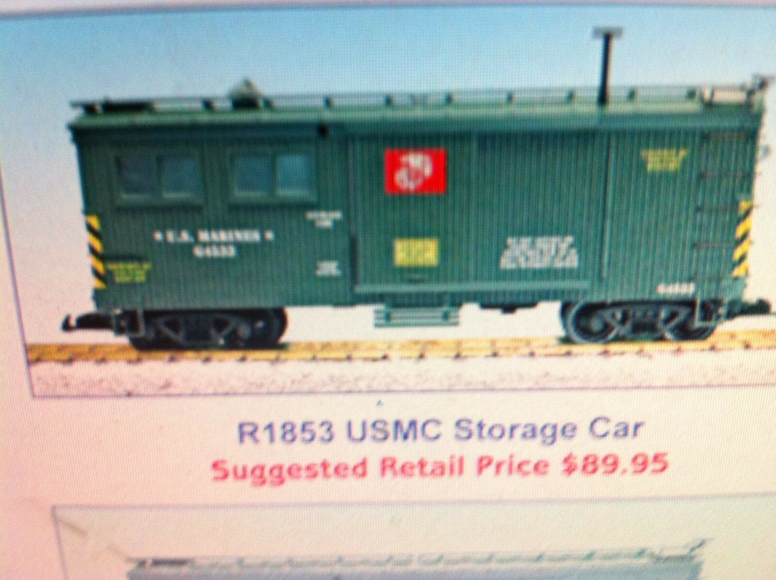 USA Trains G Scale 1853 US Military Series USMC Storage Car NEW RELEASE
