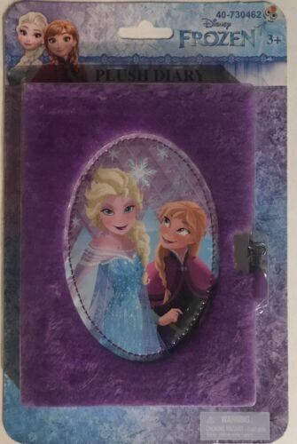 Disney Frozen Plush Diary NEW Unopened Lock And Key Anna Elsa Purple Ages 3+