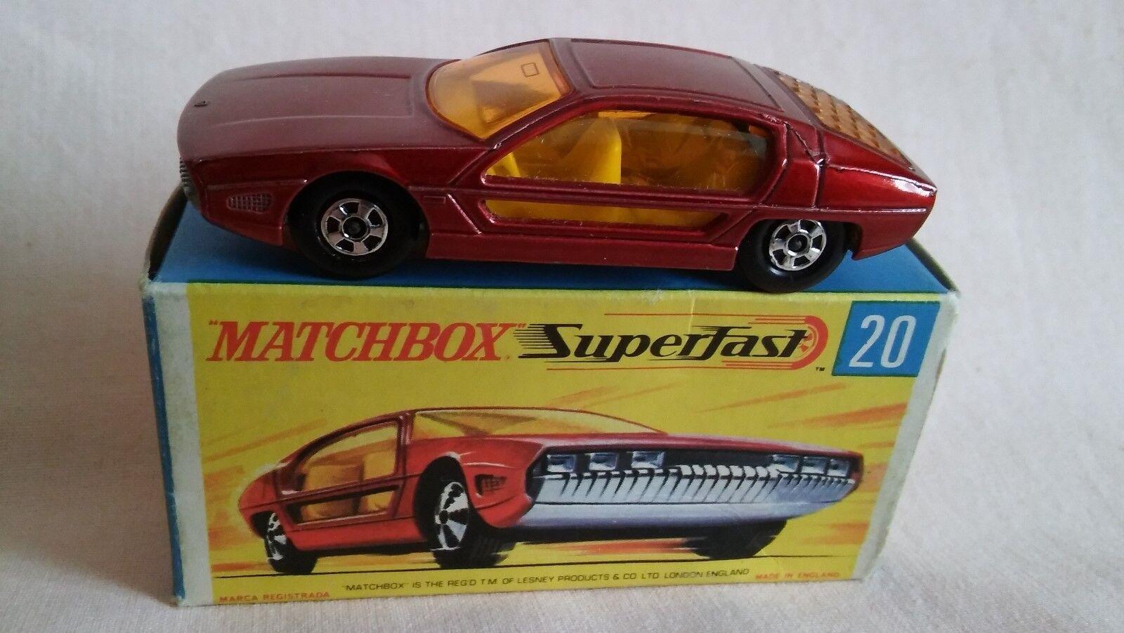 MATCHBOX SUPERFAST No20 BOXED LAMBORGHINI MARZAL WITH NARROW WHEELS IN NMIB.