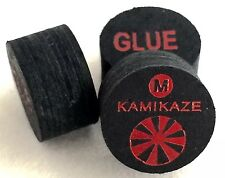 Kamikaze Black Layered Cue Tips  14 MM ( MEDIUM) (5 Tips)  Fast Shipping....