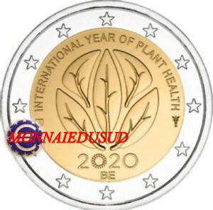 2-Euro-Commemorative-Belgique-2020-Sante-des-Plantes-NEUVE