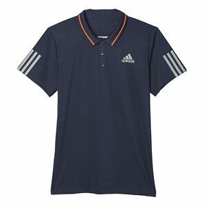 Adidas-HOMBRE-Barricada-Polo-Azul-Marino-Gimnasio-Tenis-Fitness-Climacool-Nuevo