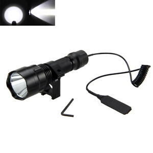 Tactical-5000Lm-T6-LED-Flashlight-Torch-Rifle-Gun-Light-Pressure-Switch-Mount
