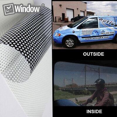 Perforé one way vision Fenêtre Vinyle Film Fly eye wrap voiture Imprimer Tint 2 couleurs