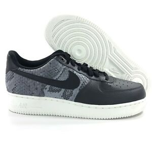 Details about Nike Air Force 1 '07 LV8 Low Snakeskin Black Grey White 823511 003 Men's 9.5