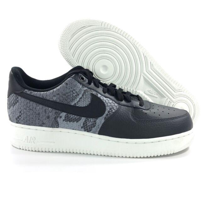 new styles 47e53 4cb22 Nike Air Force 1  07 LV8 Low Snakeskin Black Grey White 823511-003 Men s