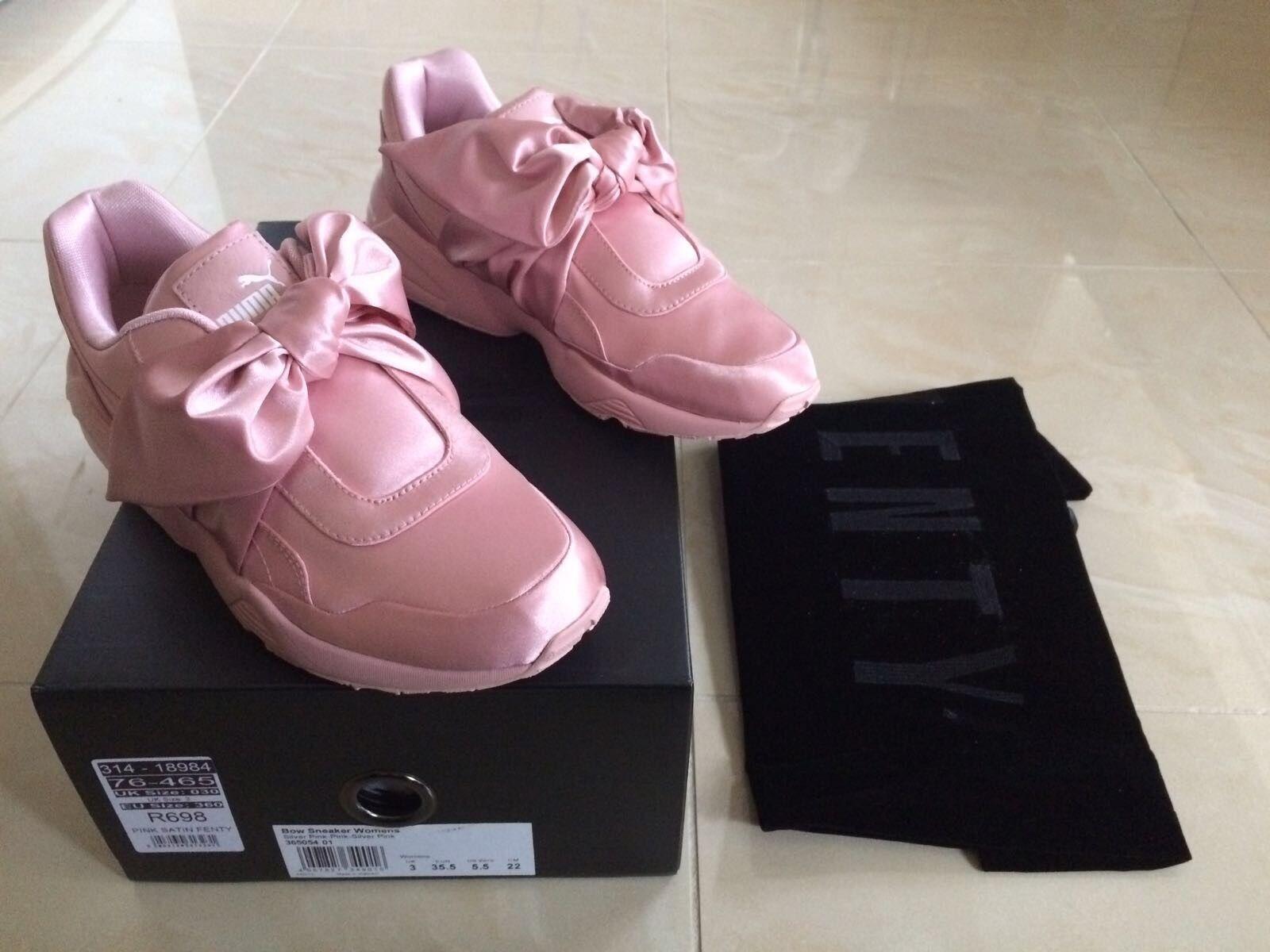 Puma Rihanna con Fiocco Rosa Sneaker Trainer fenty tutte le misure NUOVO
