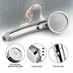 Handbrause-Hochdruck-Duschkopf-Duschbrause-3-Modi-EIN-AUS-Schalter-Wasserspar