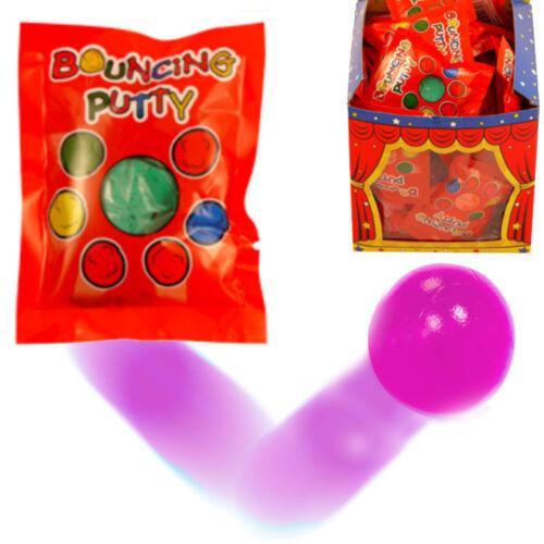 24 x Individuel Bouncing Putty Packs Enfants Sac De Fête FAVEUR Jouets T14 260