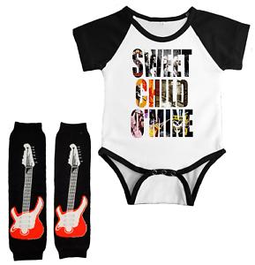 Guns N Roses Sweet Child Infant Bodysuit Baby Leg Warmers Shirt Set Shower Gift