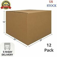 Uboxes 12 Large Corrugated Moving Boxes 20 X 20 X 15 Fast Shipping Us