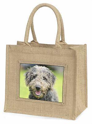 Bedlington Terrier Hund Große Natürliche Jute-einkaufstasche Weihnachtsgeschenk,