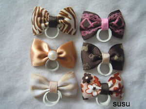 Jemlana-039-s-handmade-dog-cat-pet-grooming-bows-for-6-bows