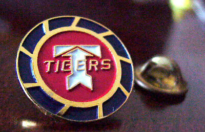 """Frugal Flying Tigers Air Cargo Freight """"t"""" Logo Gold Tone Metal & Enamel Pin Beautiful In Colour Transportation"""