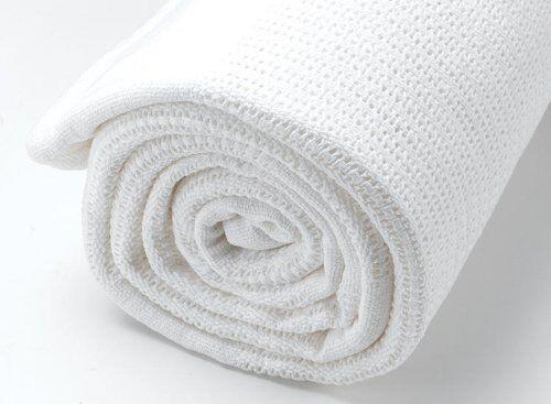 2 Paquete de Calidad 100/% Algodón Celular mantas de bebé cuna cama Gran Tamaño 86 X 112cm