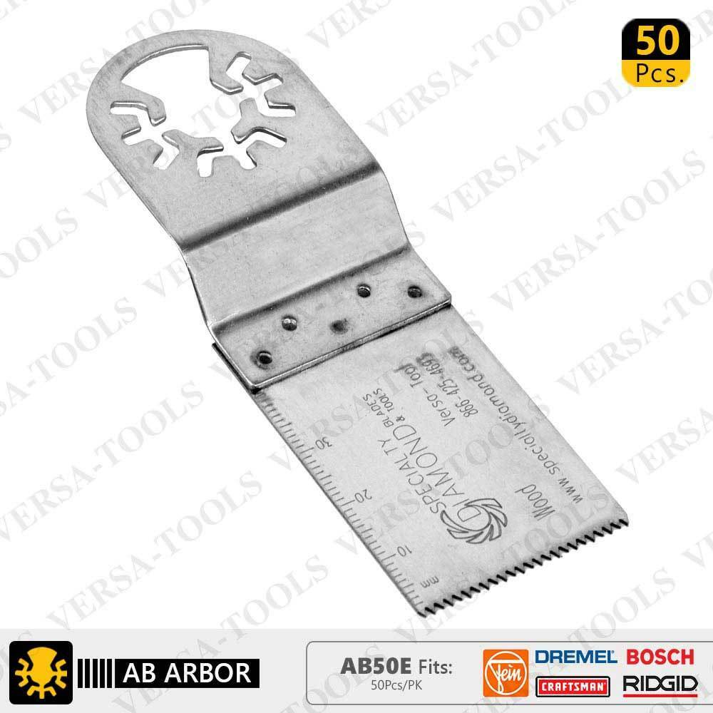 AB50E 30mm Stainless Steel Multi-Tool Saw Blades 50 Pk Fits Fein Multimaster