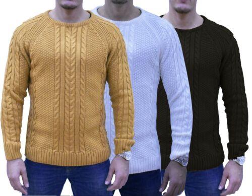 Maglia Uomo Pullover Girocollo Maglione Invernale Slim Fit Sweater Men Clothing