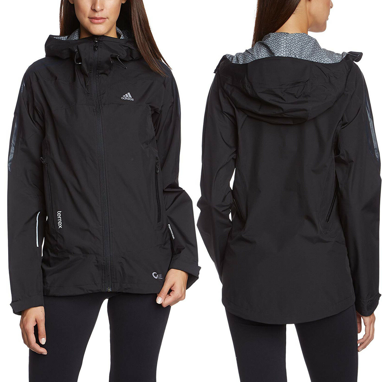 Adidas Terrex 2,5 Layer Cocona Damen Jacke Kapuzen Termoactive Schwarz Formotion