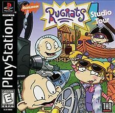 BLACK LABEL Rugrats Studio Tour Sony PlayStation 1 COMPLETE CIB LikeNew cartoon