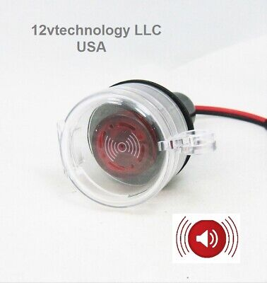 LED 12 V Marine Socket Panel Piezoelectric Tonal Beep Signal Alarm Buzzer