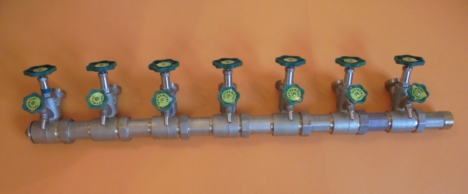 Schlößer Verteiler Kompaktverteiler Wasserverteiler DN50 x DN25,  7 fach
