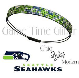 Image is loading NWT-Seattle-Seahawks-Team-Color-Womens-Rhinestone-Headband- e119c7514