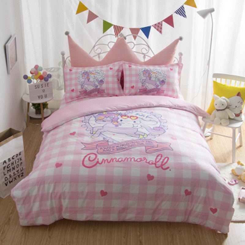 Fitted Sheets Sanrio Cinnamgoldll Dog Girls Sheets Pillowcases Japan Cartoon Hot