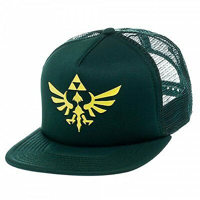 *NEW* The Legend of Zelda Skyward Sword Triforce Dark Green Trucker Cap
