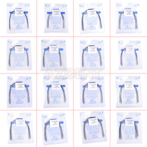 10Pcs-AZDENT-Dental-Orthodontic-Stainless-Steel-Arch-Wires-Natural-Form-All-Size