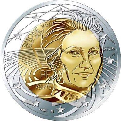 "France 2 euro coin 2018 /""Simone Veil/"" UNC"