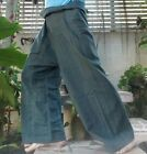 WRAP PANTS FISHERMAN LONG HEAVY COTTON YOGA TROUSERS UNISEX CASUAL NEW THAI WALE