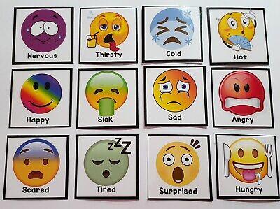 Emotions Feelings Non Verbal Sen Communication Flash Cards Autism Adhd Ebay