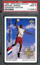 MICHAEL JORDAN 1993 Upper Deck Soccer '94 World Cup Captain PSA/DSA GRADE Mint 9