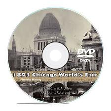 Chicago World's Fair 1893, Columbian Exposition, 50+ Vintage Books Video DVD V40