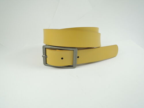 environ 91.44 cm Femme Mesdames Kinda jaune simple en Cuir Synthétique Ceinture Taille 32 To 36 in
