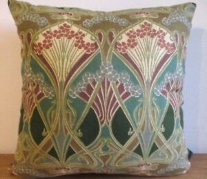 Liberty William Morris Ianthe Art Nouveau Aqua /& Velvet Fabric Cushion Cover