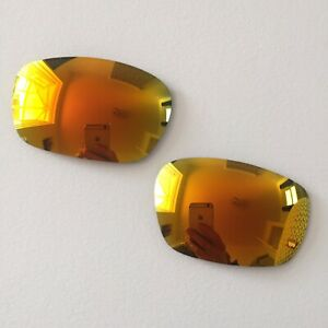 9a696c3b46 Image is loading Oakley -Racing-Jacket-Orange-yellow-Iridium-Replacement-lenses-