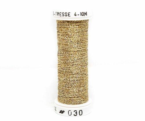Metallics Tresse 4 Au Ver A Soie Silk French Metallic Embroidery Braided Thre...