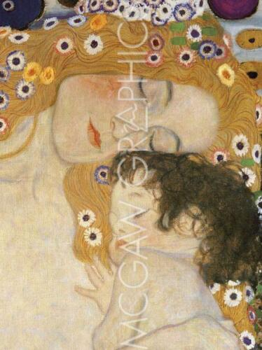 "- ART PRINT POSTER 19/"" X 13/"" THE THREE AGES OF WOMAN KLIMT GUSTAV 563 DETAIL"