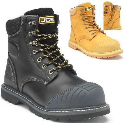 UK Size New Mens//Gents Black Tradesafe Leather Steel Toe Cap Safety Shoes