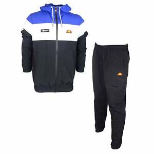 Ellesse Mattar Mellas Zip Up Polyester Black Tracksuit