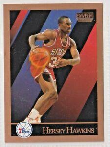 nba 1990-91 SkyBox Philadelphia 76ers Basketball Card #216 Hersey Hawkins