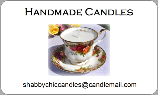 Handmade Candles Stickers Homemade Wax Luxury Labels Gifts Teacup  Personalised